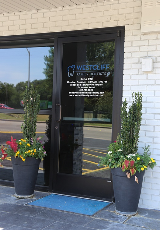 Front entrance of Westcliff Family Dentistry